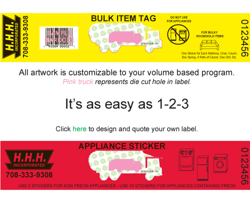 bulk item tags and appliance stickers