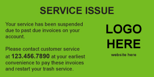 Service Issue Sticker - Suspended Service Format